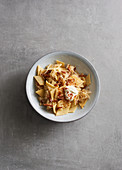 Sauerkraut pasta with bacon