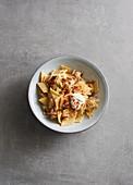 Sauerkraut pasta with bacon