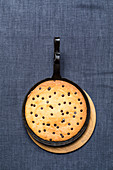 A skillet cookie (chocolate chip pancake)