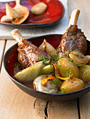 Lamb shanks with fennel