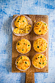 Corn, cheese and jalapeno muffins