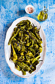 Friggitelli in padella (fried hot peppers)