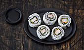Uramaki sushi with surimi
