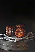Three French Canelés cakes from Bordeaux