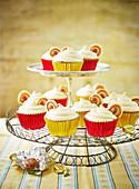 Cupcakes mit Karamellbonbons