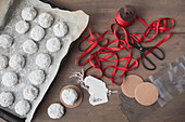 Christmas biscuits and packaging for gifting