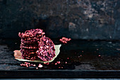 Beetroot buckwheat biscuits
