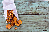 Hot chilli sweet potato chips