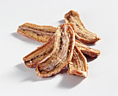Dried banana strips