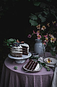 Chocolate and Blueberry Cake with Mascarpone Frosting