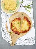 Cheese and potato cakes