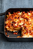 Potato lasagne with minced beef