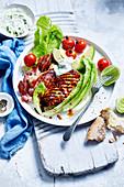Sweet Chilli Chicken und Blattsalat