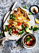 Spanish-Style Fish with Smoky Eggplant