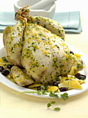 Chicken tagine with lemon and olives