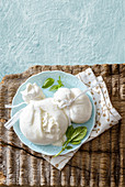 Burrata di Andria (cream cheese from Apulia, Italy)
