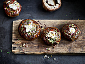 Glazed portobello mushrooms