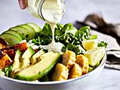 A yoghurt dressing for a salad