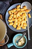 Leniwe (Quark dumpling with carrot, Poland)