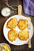 Courgette and potatoes fritters