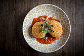 Crumb Fried Lamb chops with Tomato Sauce