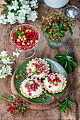 Wild strawberry tartlets with mascarpone cream