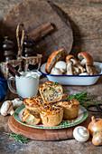Potato mushroom handpies