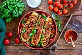 Zucchini mit Fleisch-Tomaten-Füllung