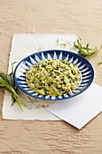 Risotto with strigoli (a wild vegetable from Italy, silene vulgaris)