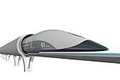 Hyperloop transport,illustration