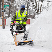 Snow clearance after US winter storm