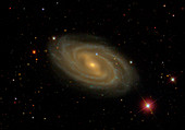 Messier 109 spiral galaxy,Sloan Digital Sky Survey image