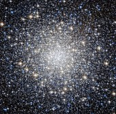 Messier 92 globular star cluster,Hubble image