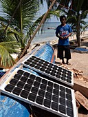 Solar panels,Banda Islands,Indonesia