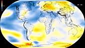 Global warming record,1970-1974