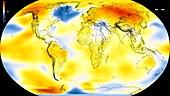 Global warming record,1990-1994