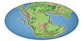 Continental drift,200 million years ago