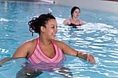Pregnant women taking part in an aquanatal class