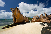 Eroded beach,Grand Anse,La Digue,Seychelles