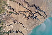 Dead Sea shore,Israel,aerial photograph