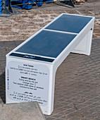 Solar smartphone charging bench
