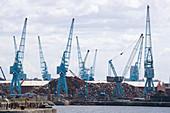 Shipyard Cranes,Liverpool Docks,UK