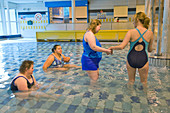 Women with learning disabilities at a swimming session