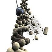 DNA damage,conceptual image