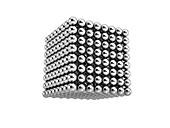Cube of metal balls,illustration