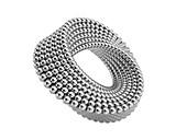 Mobius band of metal ball,illustration