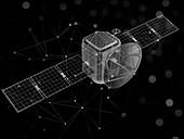 Satellite network,conceptual illustration
