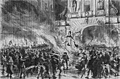 Burning the Pope in Effigy at Temple Bar, c19th century