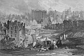 Edinburgh Old Town from Princes Street, 1841