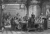 Dinner Party at a Mandarins House, 1843